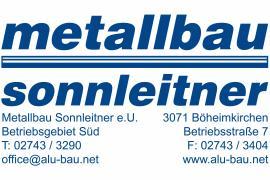 2019.04.05    Metallbau Sonnleitner - Maschineneinsteller mit CAD-Erfahrung (m/w)-