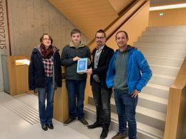 2018.12.04. | Gewinner Lehrstellenbörse Böheimkirchen-Christine Skokoff, Max Skokoff, Tobias Hochgerner, Thomas Sonnleitner (v.l.n.r.)