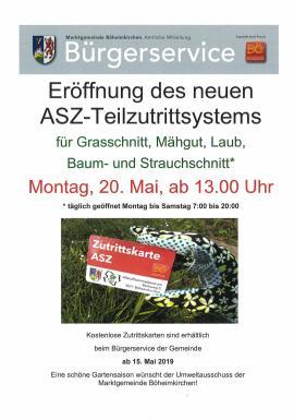 2019.05.02 | Eröffnung ASZ Teilzutrittsystem-