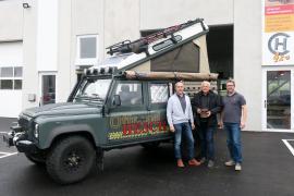 2019.06.05 | Offroad-HESCH in Böheimkirchen-Manfred Hesch, Bgm. Hans Hell, GF Stefan Neubauer (v.l.n.r.)