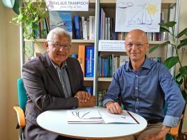 2019.08.27 |  Neue ganzheitliche Personalentwicklung in Böheimkirchen-Bürgermeister Johann Hell bei DI Klaus Trampisch, um mehr über gesunde Personalentwicklung zu erfahren