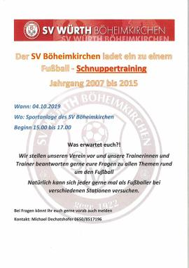 2019.09.20 Fußball-Schnuppertraining-