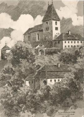 -Alte Pfarrkirche um 1690