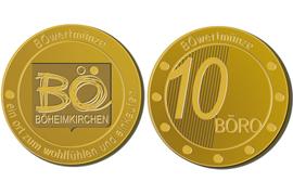 So sehe ich aus und bin 10 EURO Wert.-